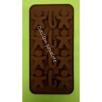 Placa Silicona Bombon Chocolate Muñeco Chupetin Candy