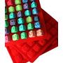 Molde Silicona 48 Cubos Letras Reposteria Jabones