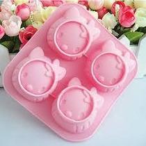 Molde Para Cupcakes/muffins De Hello Kitty - Silicona