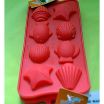 Moldes De Silicona P/ Bombones O Cupcakes Motivos Marinos