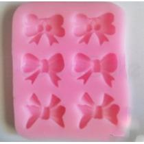 Molde Silicona Moños Lazos Fondant Reposteria Torta Porcelan