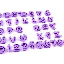 Letras + Números Disney. Cortantes De Reposteria Importados.