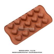 Molde De Silicona Corazoncitos Corazones Bombones Chocolate