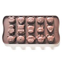 Molde De Silicona Bombones Chocolate Vaca Oso Mono Hipopotam