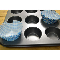 Molde X 12 Teflonado Muffins + 12 Pirotines