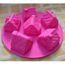 Moldes De Silicona Tamaño Cupcakes Casitas Muy Original