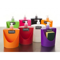 Dispenser Para Detergente C/compartimiento Esponja