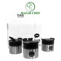 Especiero De Metal Con Tapa Plastica - Bazar Chef