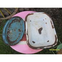 Lote 2 Antiguas Fuente Ensaladera Enlozadas Cocina Deteriora