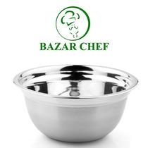 Bowl Profundo Acero Inoxidable Con Silicona 24 Cm Bazar Chef