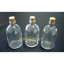 Botellas / Frascos De Vidrio 100 Cc Con Corcho X 30 Unidades