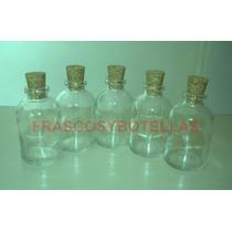Frascos-botellas De Vidrio 30 Cc Con Corcho X 30 Unidades