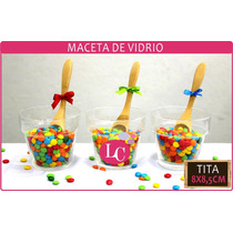 Macetas De Vidrio Para Topiarios Centros ( Tita 8x8,5cm)