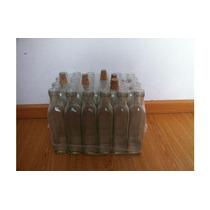 Botella Cuadrada Vidrio De 250 Cc C/corcho X 20 Unidades