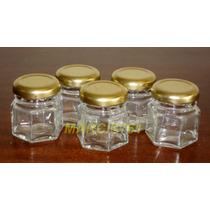 Frascos-envases Vidrio 40 Cc Con Tapa X 15 Unidades !!!!!!!!