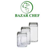 Frasco Cuadrado Grande Vidrio - Bazar Chef