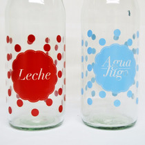 Botella De Vidrio - Cierre Hermético -leche Agua Yogurt Jugo