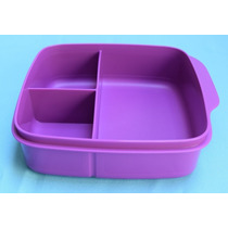 Tupperware - Porta Vianda Cuadrado Con Diviciones - Violeta