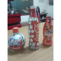 3 Botellitas Coca Cola,rara,coleccion,seleccion Argentina