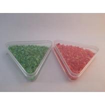 10 Estuches Triangulares De Plástico