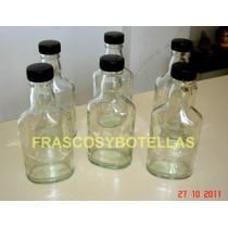 Botellas Petaca Vidrio 190 / 200 Cc Modelo Angola X 40 Unid