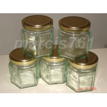Frascos-envases Vidrio Hexagonal 190 Cc X 28 Unidades