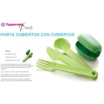 Set De Cubiertos Verdes Tupperware