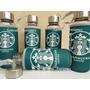 Botella De Vidrio C/funda Térmica Neoprene Starbucks Fitness