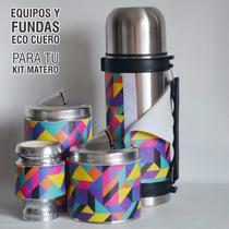 Oferta! Set Matero En Ecocuero,termo Latas Y Mate.vs Modelos