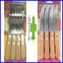 Set 24 Cubiertos Tramontina 12 Tenedores 12 Cuchillos Madera