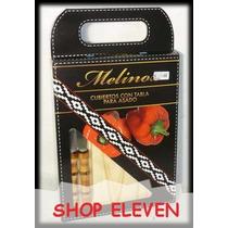32 Tablas Para Asador Pino + Cubiertos Shop Eleven Art 60384
