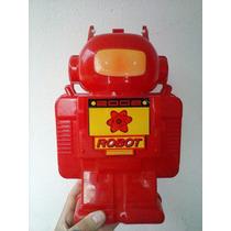 Lunchera De Robot Años 80 Con Termo Nueva