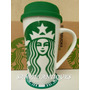 Vaso Jarro Térmico Starbucks Porcelana C/ Silicona Tapa Caja