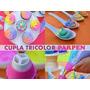 Cupla Parpen Tricolor Decoracion Cupcakes Tortas