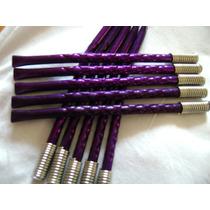Bombilla De Color Violeta Diseño Original Para Souvenirs