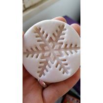 Molde De Silicona Copo De Nieve Mediano Frozen!!!