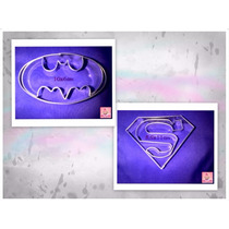 Setx2 Cortantes Batman + Superman - Galletitas, Deco Tortas