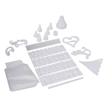 Kit Decoracion Tortas 100 Piezas, Picos, Letras, Reposteria