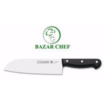 3 Claveles 1122 Uniblock Cuchillo Santoku 18 Cm - Bazar Chef