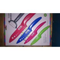 Set 4 Cuchillos De Cerámica Y Pelapapas