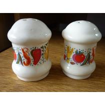 Salero Y Pimentero De Ceramica