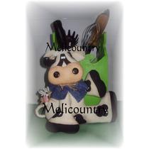 Muñecos Country Vaca Porta Utensilios