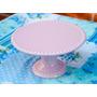 Alzada Base Para Tortas De Cerámica Rosa 20 Cm