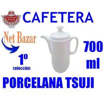 Cafetera Tsuji Recta Lisa Bar Blanca 450 Porcelana Cafe Lech