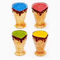 Bowls Cucurucho Altos Varios Colores Set X 4 Unidades