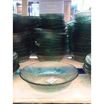 Bowl Vidrio Compotera Verde Oferta Moderno Bazar