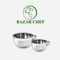 Bowl Batidor Acero Con Asas 28 Cm - Bazar Chef