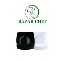 Luminarc - Quadratto Plato Hondo Negro - Bazar Chef
