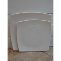 Platos Playos Cuadrados -26cmx26cm-. Vajilla
