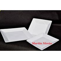 Plato Playo Cuadrado De Porcelana Oxford Brasil 26cm
